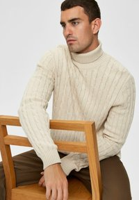 Selected Homme - Pullover - bone white - 4