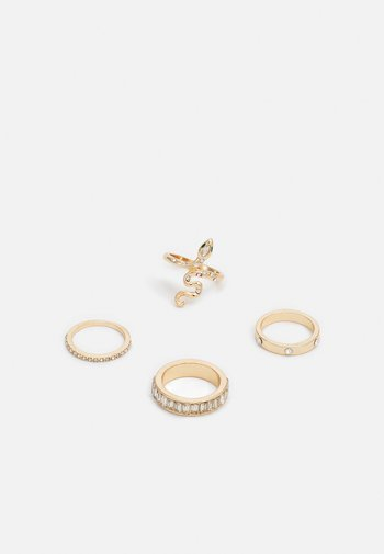 JERAELITH 4 PACK - Ring - clear on/gold-coloured