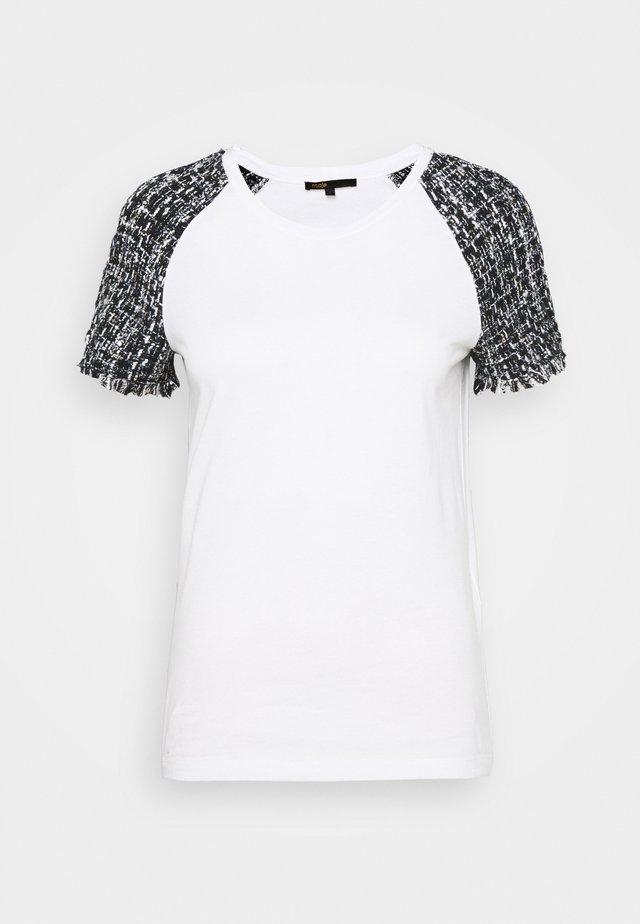 TIACOU - T-shirt z nadrukiem - blanc/noir