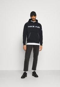 Nike Sportswear - AIR HOODIE - Hoodie - black/dark smoke grey/white - 1