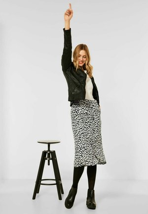 A-line skirt - schwarz