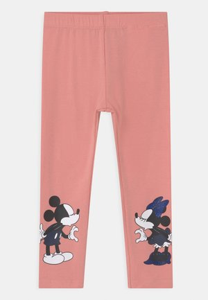 DISNEY MINNIE MOUSE & MICKEY MOUSE - Legíny - blush