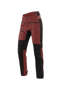 Haglöfs - RUGGED FLEX PANT - Outdoor trousers - maroon red/true black - 0