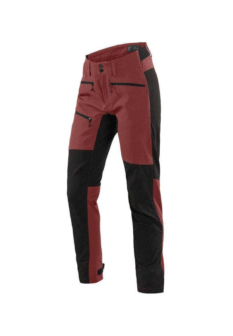 Haglöfs - RUGGED FLEX PANT - Outdoor trousers - maroon red/true black