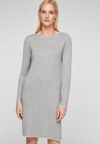 s.Oliver - Jumper dress - grey melange - 0
