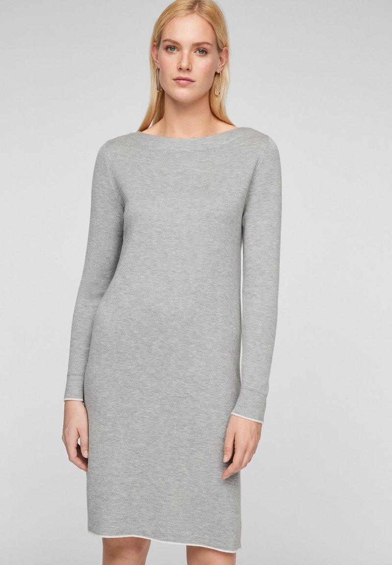 s.Oliver - Jumper dress - grey melange