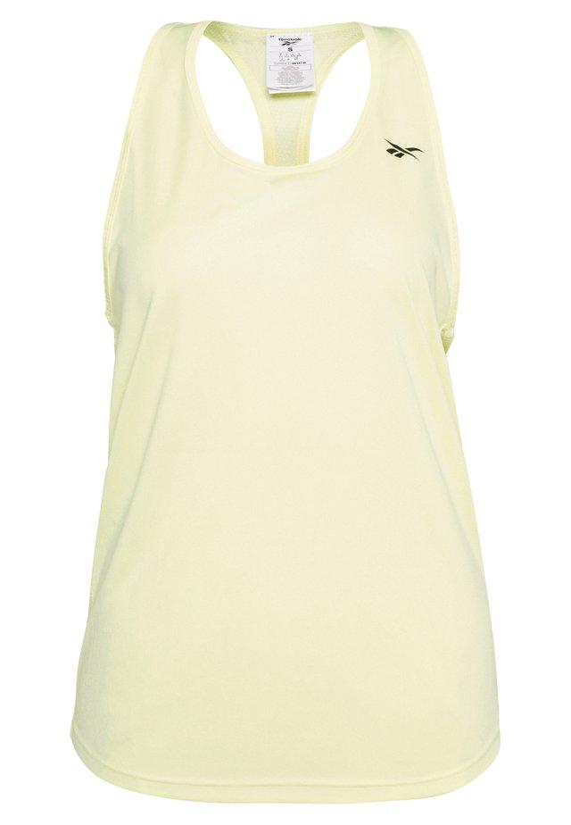 MESH BACK TANK TOP - Sports shirt - yellow