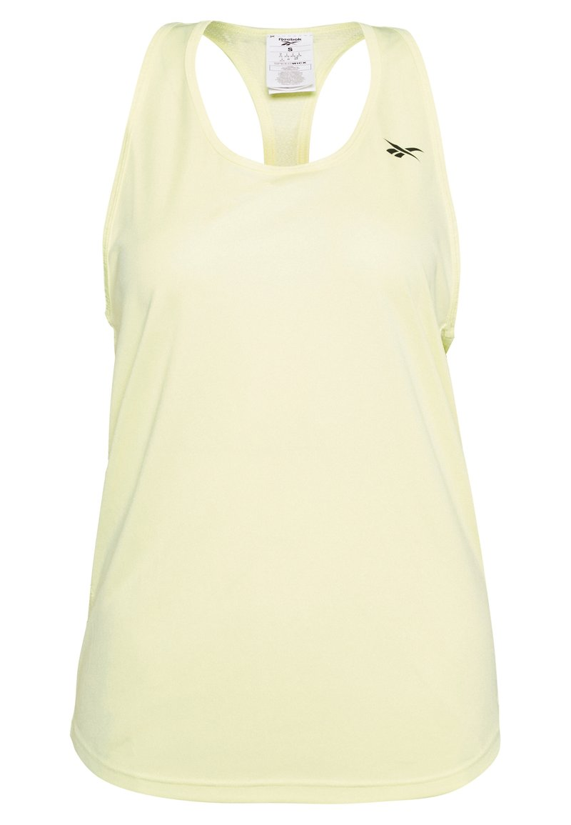 Reebok - MESH BACK TANK TOP - Treningsskjorter - yellow