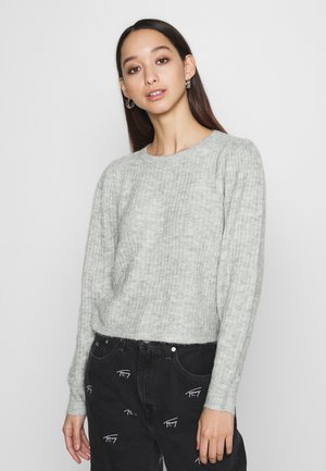 ONLTOKYO PLEATS - Jumper - light grey melange