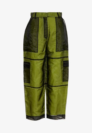 PANT LINING - Trousers - lime/black