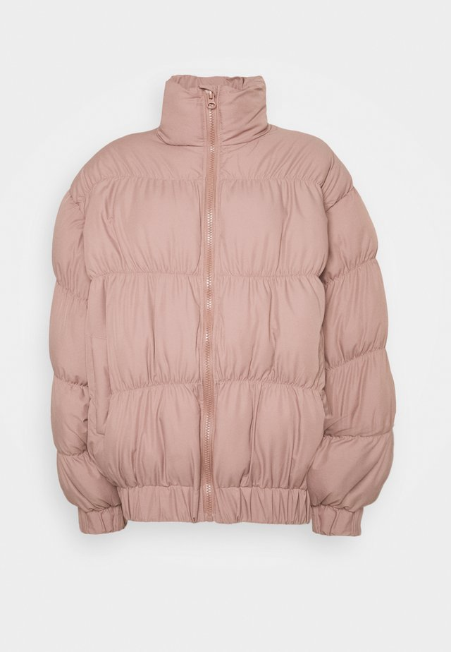 STATEMENT RUCHED PUFFER - Winter jacket - rose