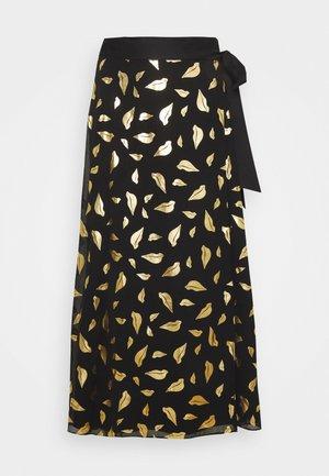NALANI - Áčková sukně - black/gold