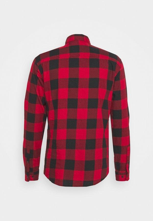 Jack & Jones JJEGINGHAM - Koszula - brick red/czerwony Odzież Męska PDXX