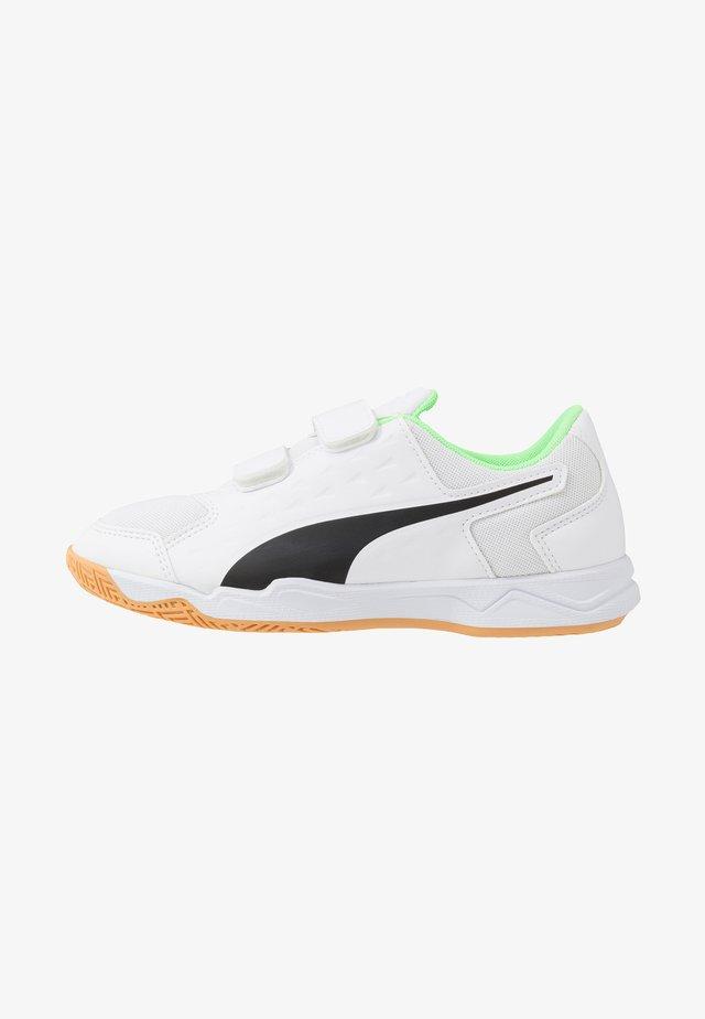 AURIZ V - Sports shoes - white/black/elektro green