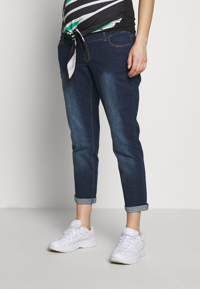 OVERBUMP MOM - Jeans relaxed fit - inidgo