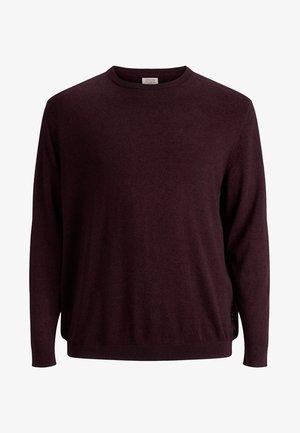 JJEBASIC CREW NECK - Pullover - bordeaux