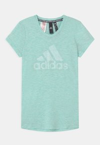 adidas Performance - UNISEX - T-shirt print - mint/white - 0