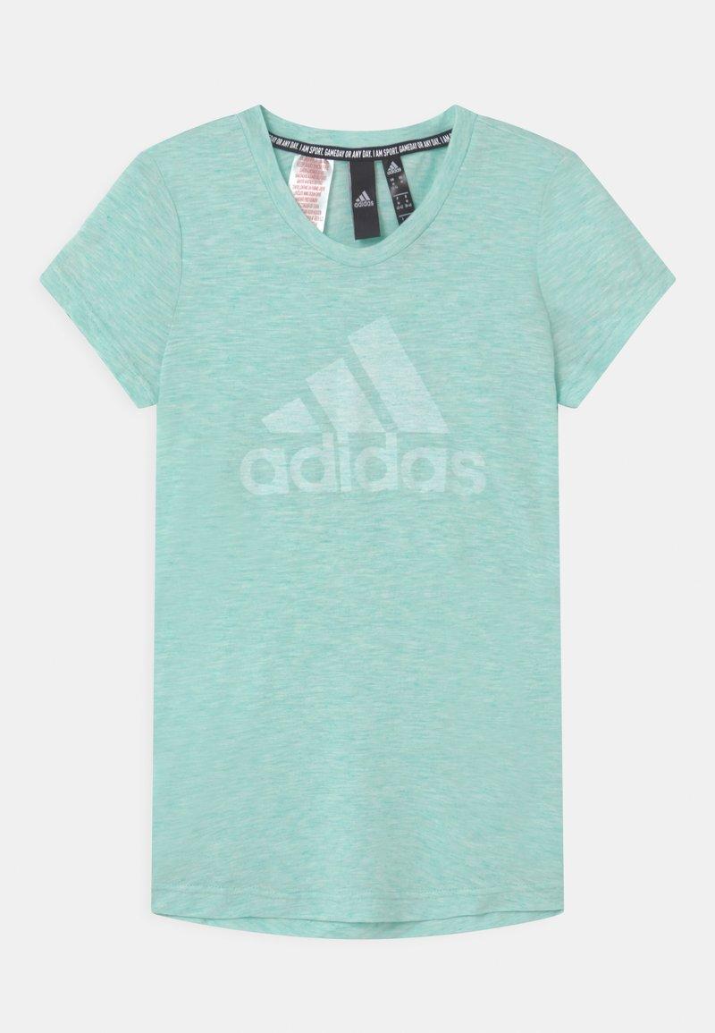 adidas Performance - UNISEX - T-shirt print - mint/white