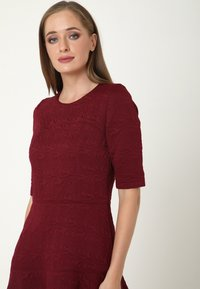 Madam-T - Day dress - weinrot - 3