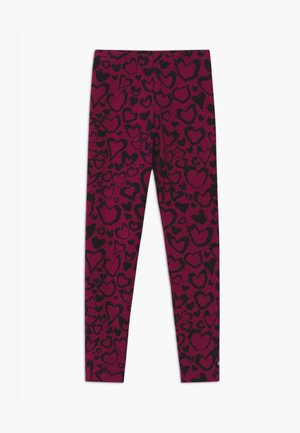 UNISEX - Leggings - berry/black