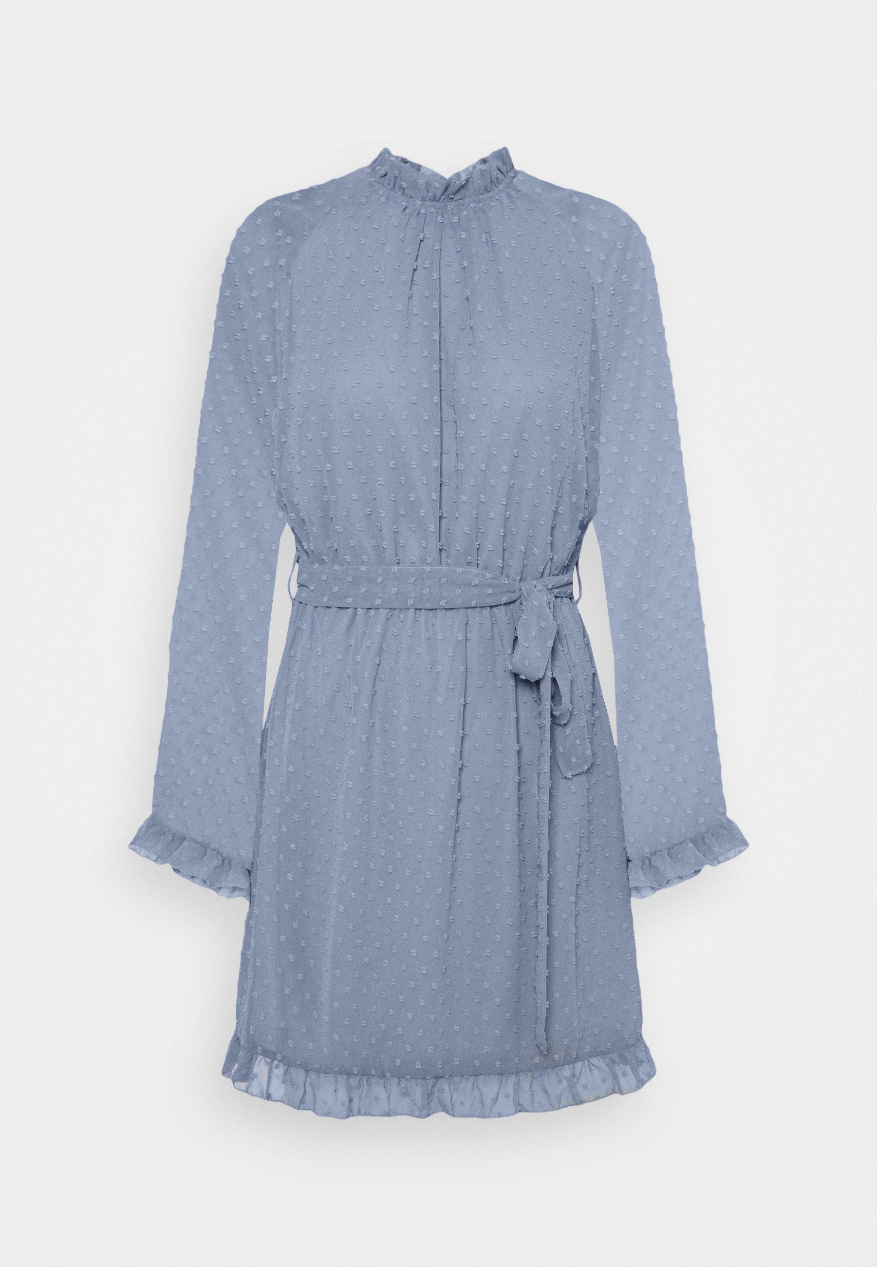 Women TIE WAIST OPEN BACK DOBBY DRESS - Day dress