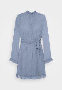 Missguided - TIE WAIST OPEN BACK DOBBY DRESS - Korte jurk - baby blue - 0