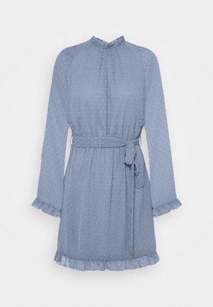 TIE WAIST OPEN BACK DOBBY DRESS - Day dress - baby blue