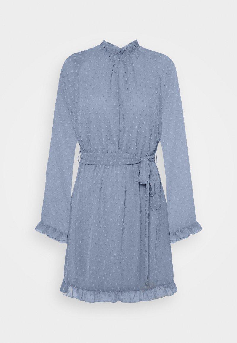 Missguided - TIE WAIST OPEN BACK DOBBY DRESS - Korte jurk - baby blue