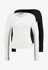 Abercrombie & Fitch - SLIM MULTI 2 PACK - Topper langermet - black/white - 3