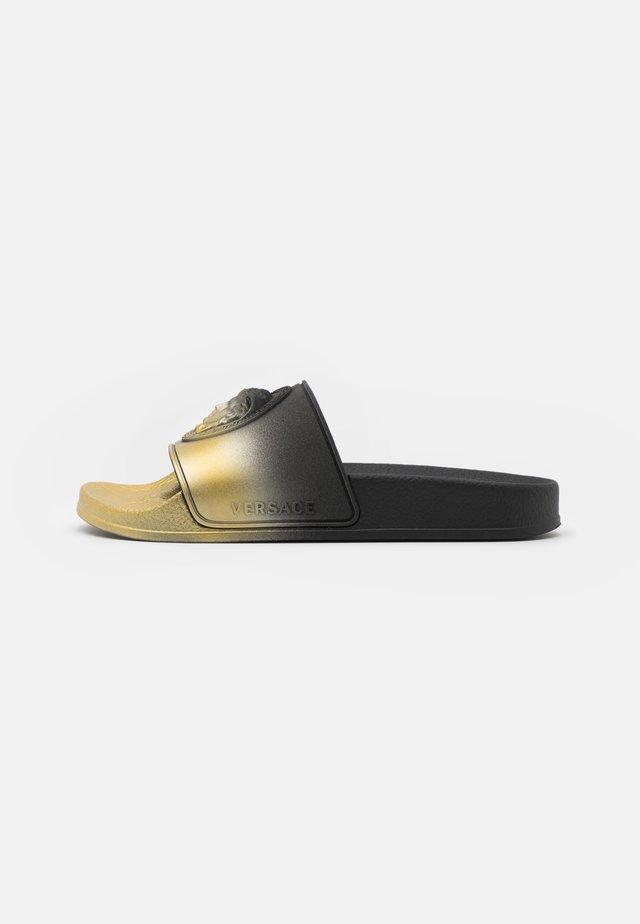 UNISEX - Pantofle - black/gold