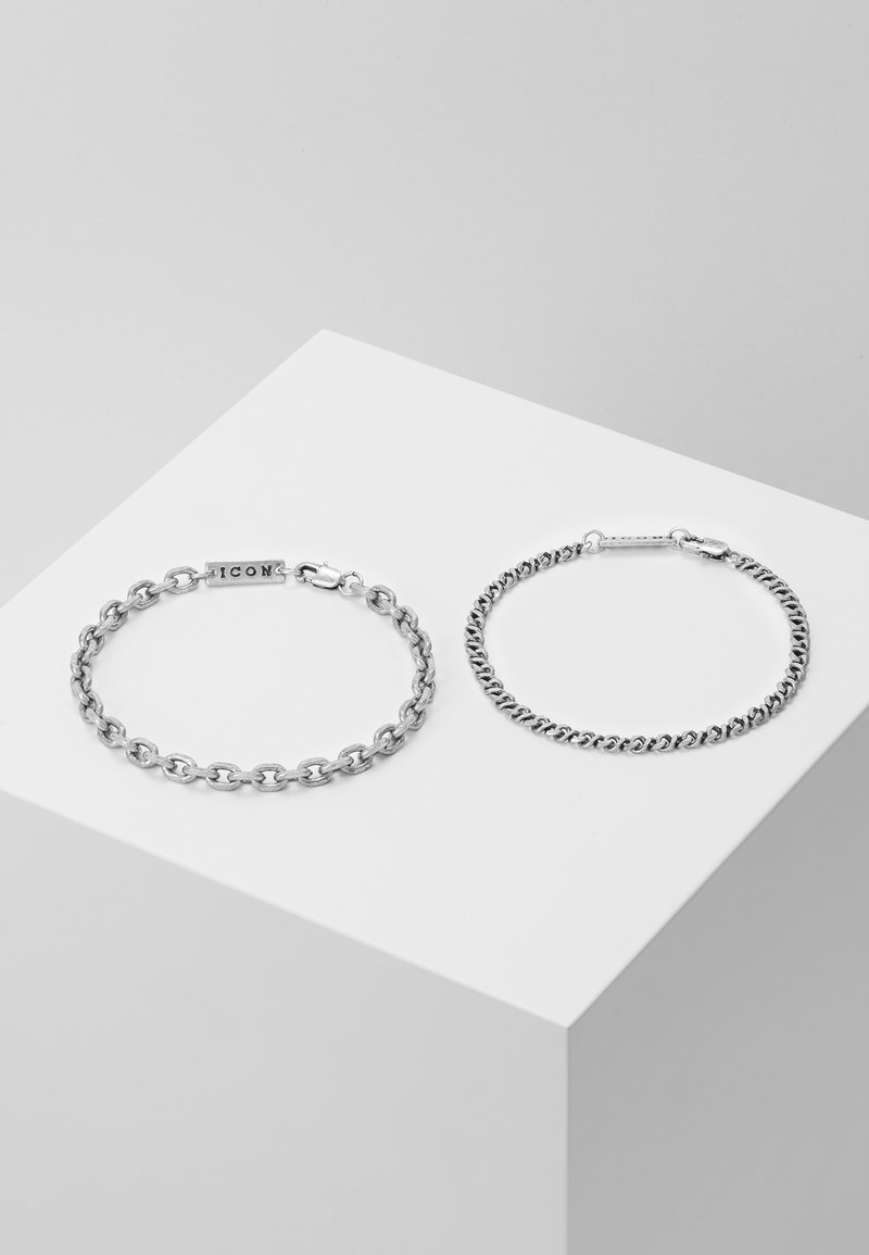 Icon Brand - GRAHAM COMBO 2 PACK  - Bracelet - silver-coloured