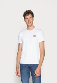 Levi's® - CREWNECK GRAPHIC 2 PACK - T-shirt con stampa - white/mid tone grey heather - 2