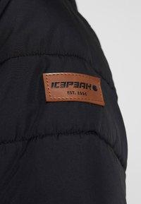 Icepeak - PIDALL - Vinterkappa /-rock - black - 8