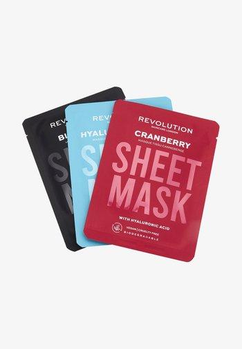 BIODEGRADABLE DEHYDRATED SKIN SHEET MASK - Skincare set - -