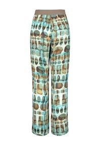 Samoon - CARLOTTA MIT PRINT - Trousers - cameo blue gemustert - 1
