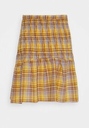SHIRRED CHECK MINI SKIRT - Spódnica mini - multi