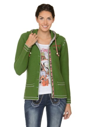 KARINA - Strickjacke - green