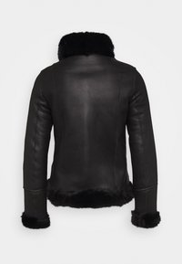 STUDIO ID - GINA SHEARLING JACKET - Leather jacket - black - 1