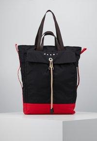 Marni - Shopping bag - black/red/brown - 0