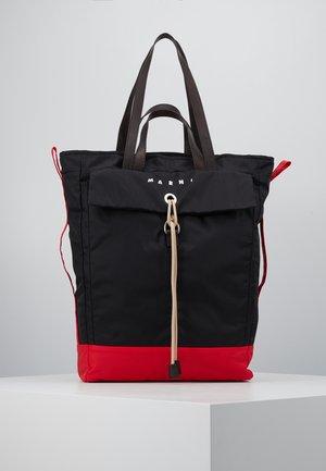 Shoppingveske - black/red/brown