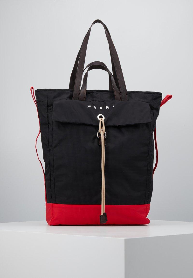 Marni - Shopping bag - black/red/brown