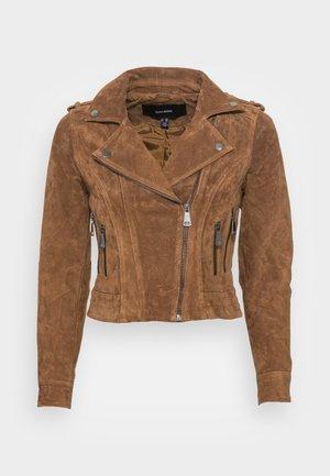 VMROYCESALLY SHORT JACKET - Leather jacket - tobacco brown