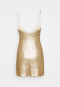 Abercrombie & Fitch - PARTY SEQUIN MINI DRESS - Juhlamekko - gold - 1