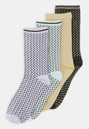 VMGLITTER MINI DOTS SOCK 4 PACK - Strømper - pastel green