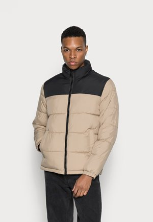 JJPAUL PUFFER COLLAR - Winter jacket - crockery