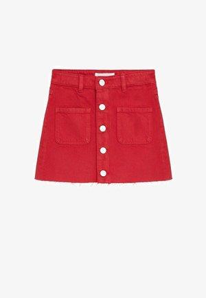 Denim skirt - rood