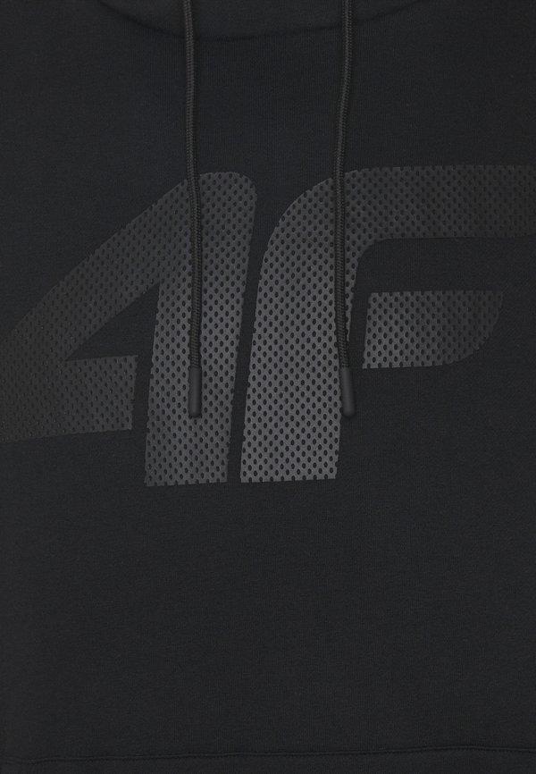 4F HERREN FREDRIK - Bluza z kapturem - black/czarny Odzież Męska RMNH