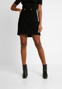 Morgan - JELLY - Áčková sukně - noir - 0