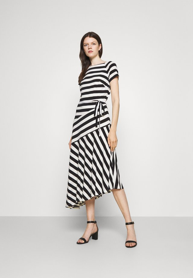 BLOSSOM SHORT SLEEVE DAY DRESS - Sukienka letnia - cream/black