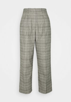 SOFT CHECK PANTS - Pantalon classique - multi/cloudy melange